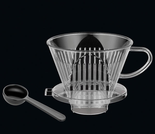 Cilio Plastic Coffee Filter 4 Cup with Coffee Spoon - For Filter Bag Size 1 x 4