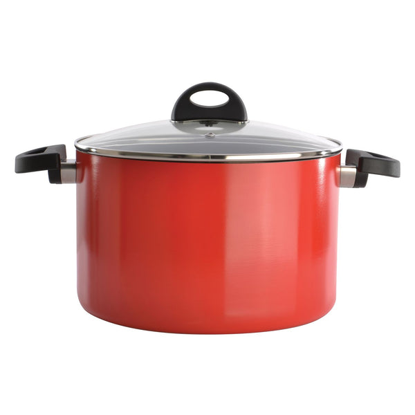 BergHoff Eclipse - Covered Stockpot - Aluminium - Red - 24cm/10in, 6.6l