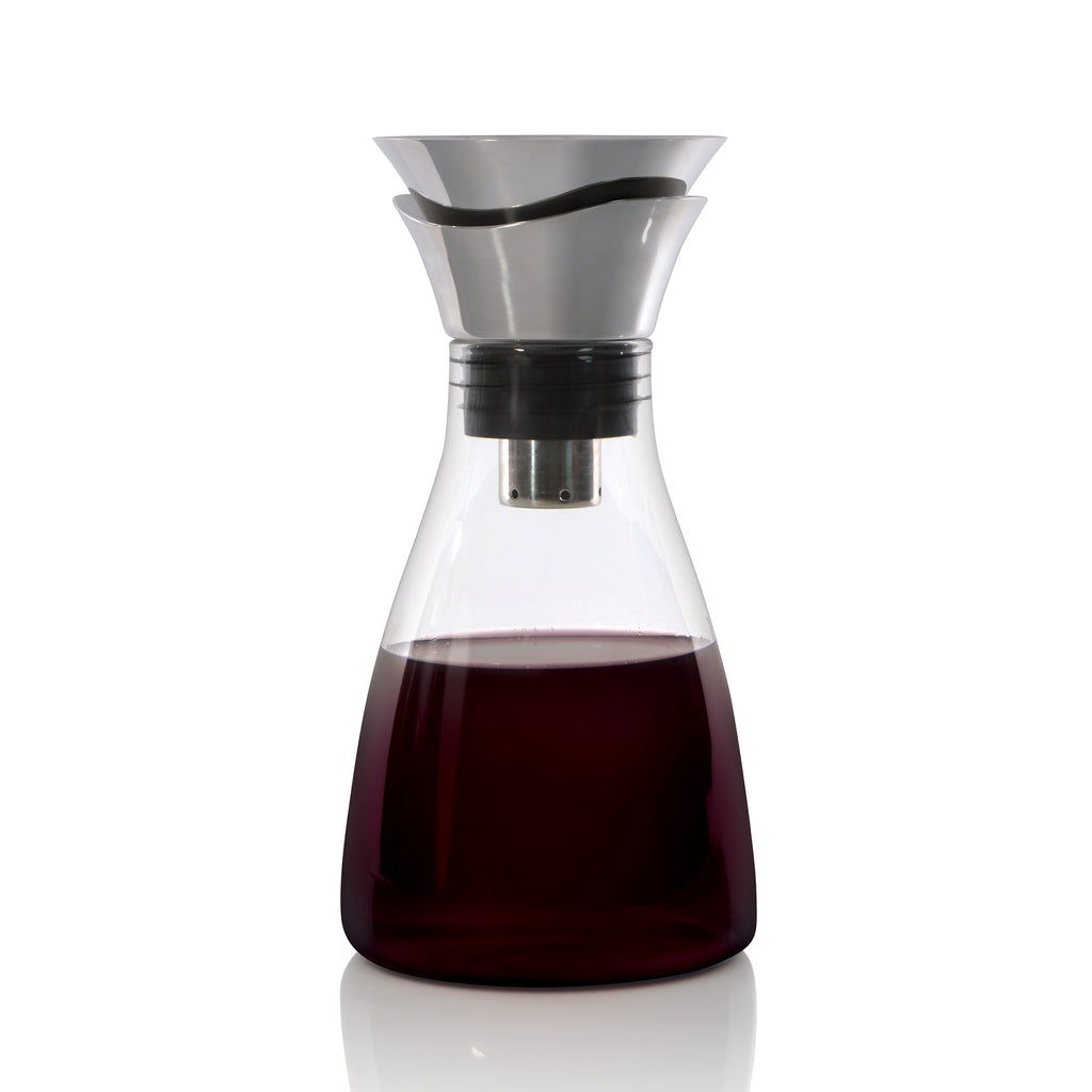 BergHoff Eclipse - Wine Carafe/Aerator - Glass Stainless Steel & Silicone - 1.2l