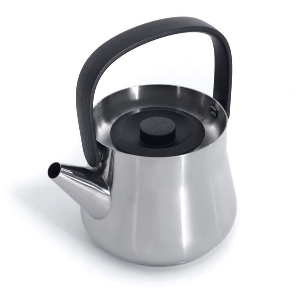 BergHoff Ron - Teapot with Strainer/Kettle - Stainless Steel - 1l - Black Lid
