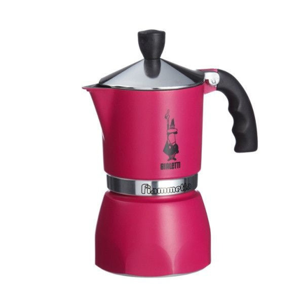 Bialetti Fiammetta Espresso Moka Stove Top Coffee Maker Fuchsia Pink  3 Cup - Slightly Scratched or Minor Imperfections