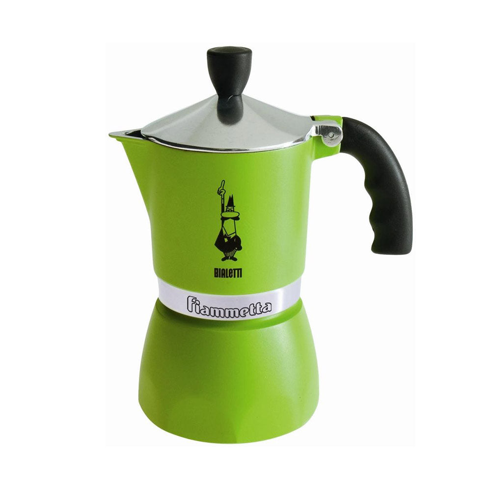 Bialetti Fiammetta Espresso Moka Stove Top Coffee Maker Green 3 Cup Slightly Scratched or Minor Imperfections
