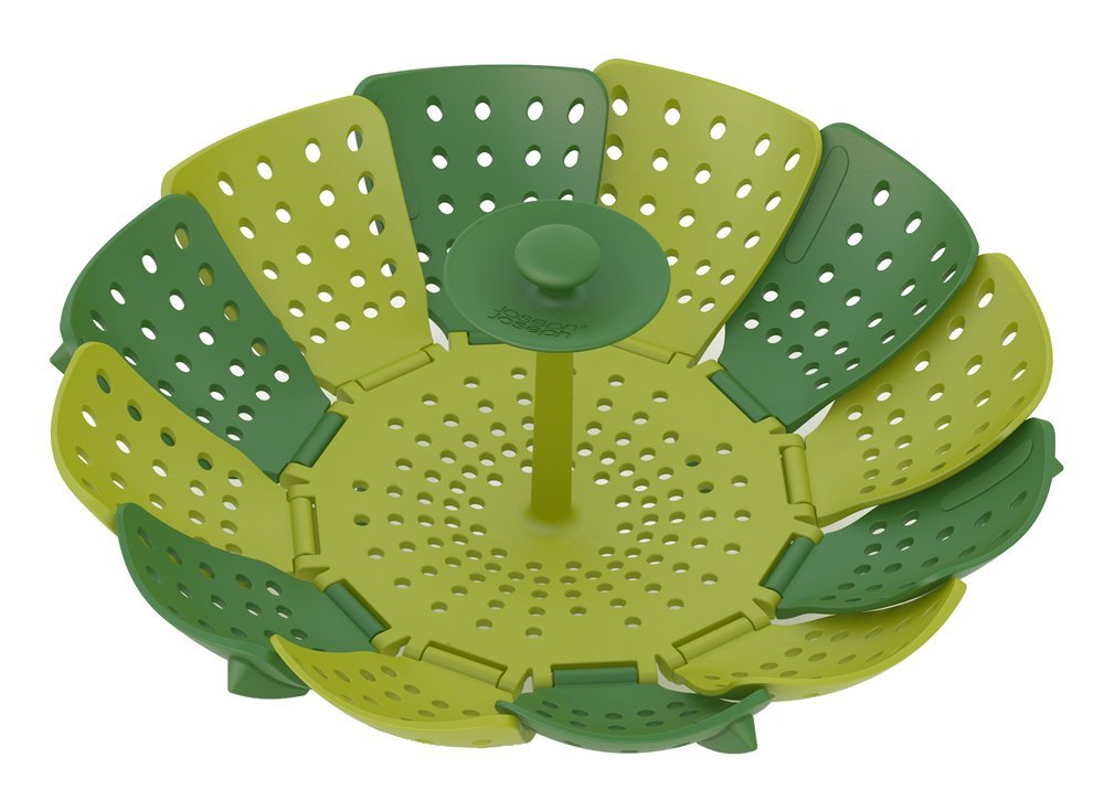 Joseph Joseph Lotus Plus - Steamer - Self-Adjusting - Polypropylene - Green