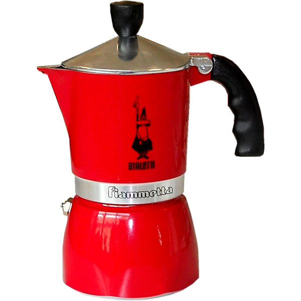 Bialetti Fiammetta Espresso Moka Stove Top Coffee Maker Red 3 Cup - Slightly Scratched or Minor Imperfections