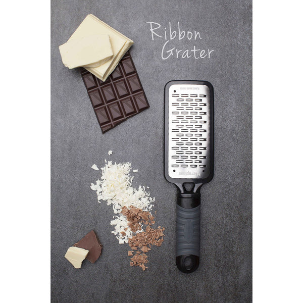 Microplane Home Series - Ribbon Grater - Surgical Stainless Steel Blade - Black