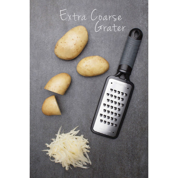 Microplane Home Series - Extra Coarse Grater - Stainless Steel Blade - Black