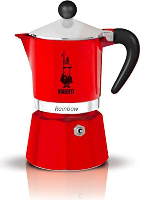 Bialetti Rainbow - Stove Top Espresso Coffee Maker - Red - Various Sizes