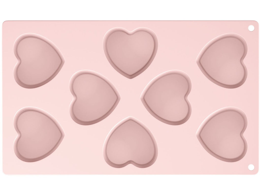 Katie Alice - Silicone Heart Shaped Muffin Mould - Eight Cup - Pink