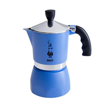 Bialetti Fiammetta Espresso Moka Stove Top Coffee Maker Blue 3 Cup - Slightly Scratched or Minor Imperfections
