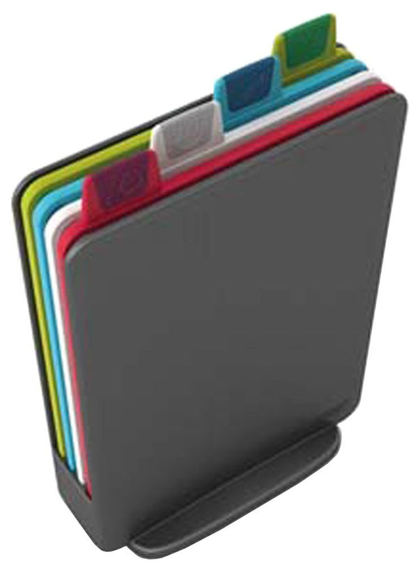 Joseph Joseph Index Mini - Chopping Board Set - 4 Boards in Holder - Graphite