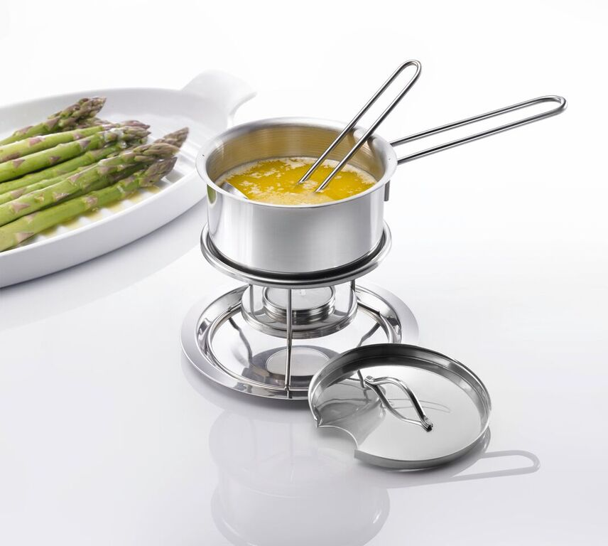 Westmark - Butter Pan with Lid Warmer & Spoon - Indoor & Outdoor Use - Small