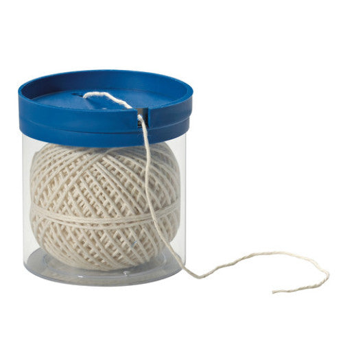 Küchenprofi Kitchen String Cord Dispenser with 40m Cord - Perspex - 7.7x7.5x7cm