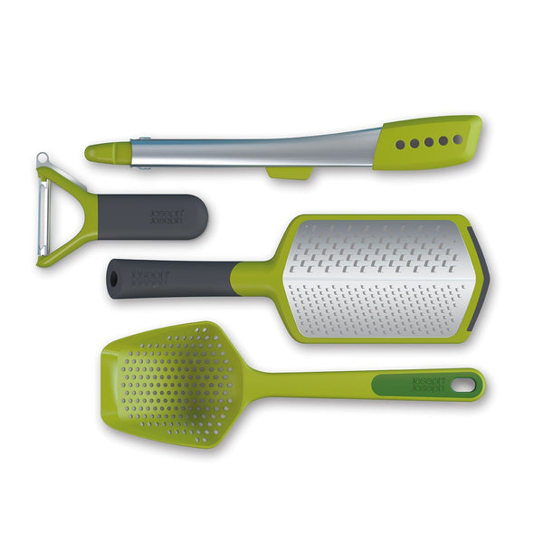 Joseph Joseph Foodie 4-Piece Gadget Kitchen Utensil Set - Ideal as Gift - Green