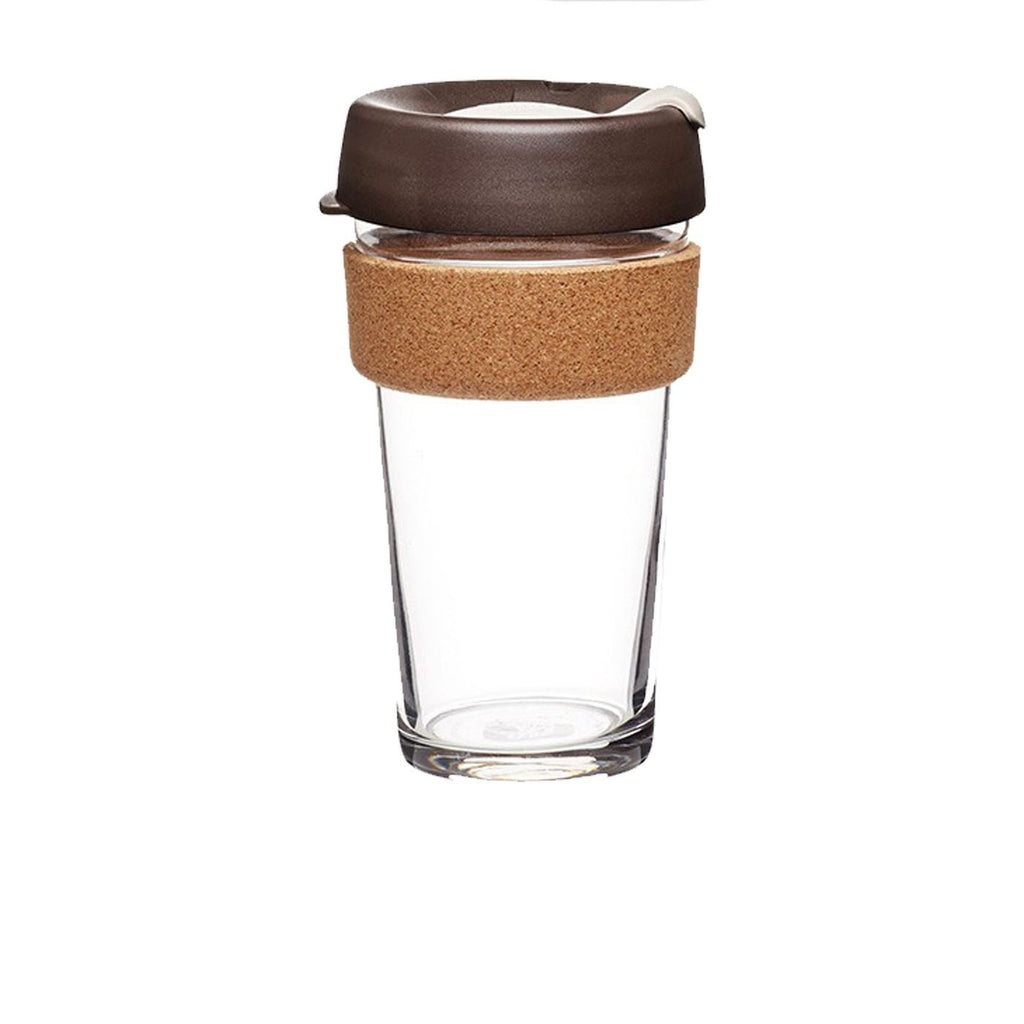 KeepCup Brew - Cork Edition - Glass Travel Mug - Large 16oz - Various Colours