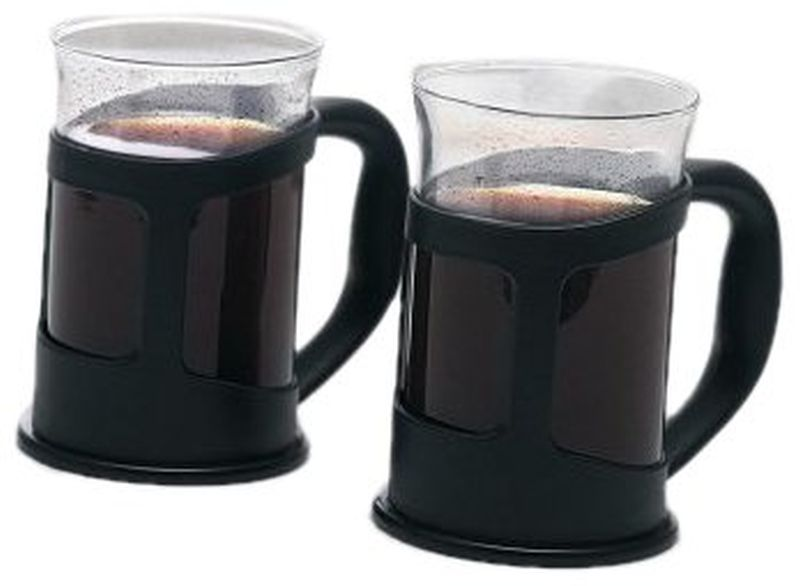 La Cafetiere Verona - Set of 2 Cups - Black