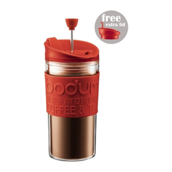 Bodum - Travel Mug - French Press with Spare Lid - Plastic - Various Colours