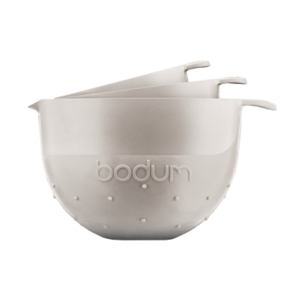 Bodum Bistro - Mixing Bowls - 3 Piece Dishwashable - Plastic - Off White - No Packaging