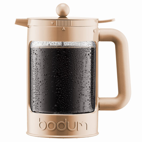 Bodum Bean - Iced Coffee Maker Set with Locking Lid - 1.5l/51oz/12 Cup - Cream