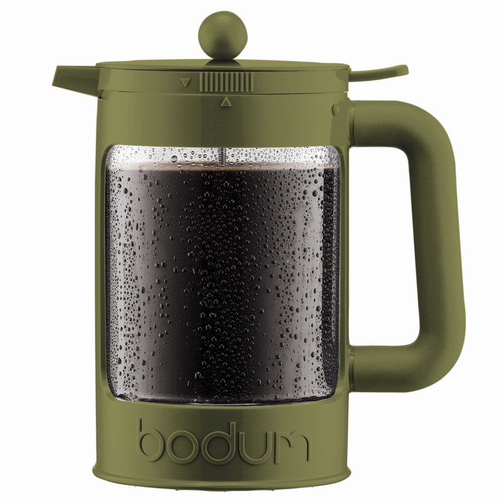 Bodum Bean - Iced Coffee Maker Set with Locking Lid - 1.5l/51oz/12 Cup - Green