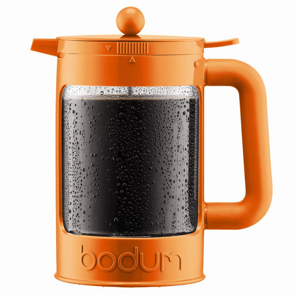 Bodum Bean - Iced Coffee Maker Set with Locking Lid - 1.5l/51oz/12 Cup - Orange