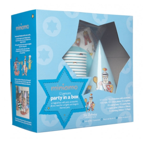 Miniamo Sir Bakealot - Party in a Box - Includes Party Bags Table Cover and More