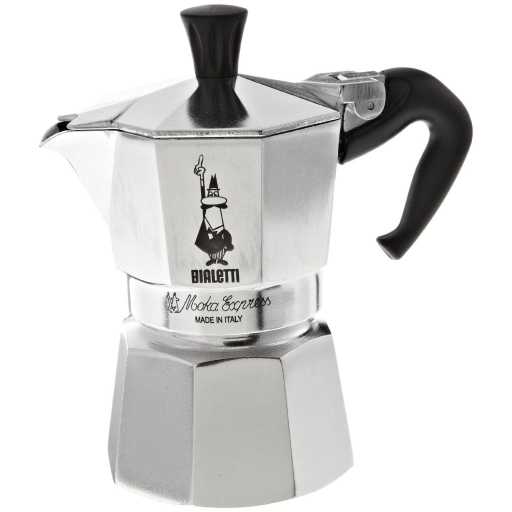 Bialetti Moka Express - Stovetop Espresso Maker - Aluminium - Silver -3 Cups - No Packaging