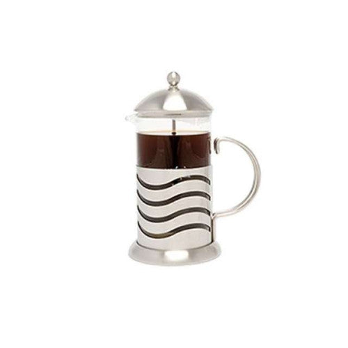 La Cafetiere Wave - Cafetiere Coffee Maker - Glass & Stainless Steel - 8 cup 1l