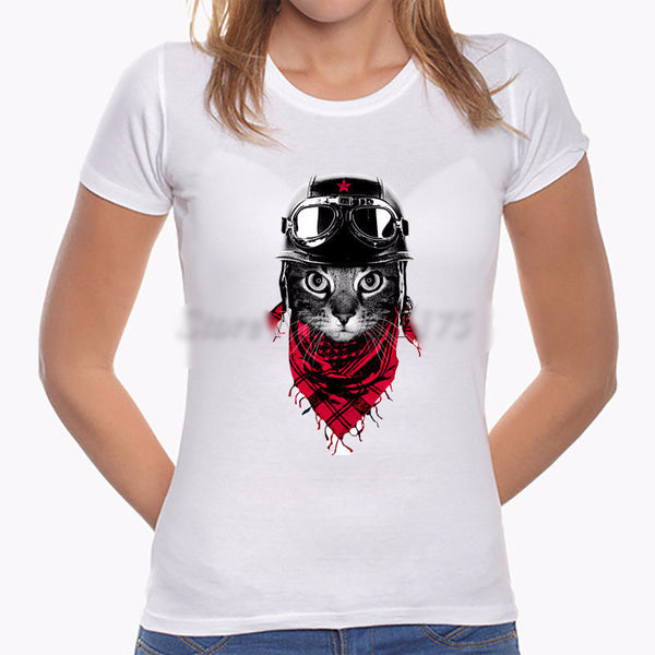 "Fashionable  ""Cool Kitty"" T-shirt - PawMerch"