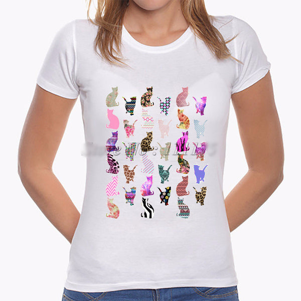 Fashionable Kitty Medley T-shirt - PawMerch