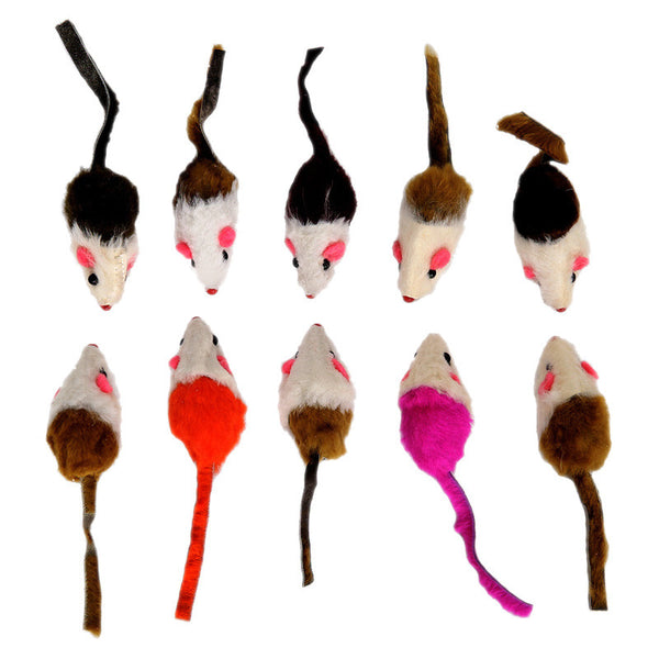 10 toys pack - Toy Mice for Cats - PawMerch