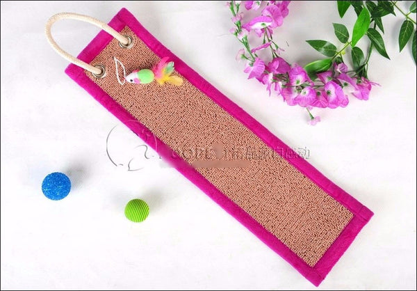 Scratch Paper-Board Toy Furniture Scratcher with small mouse. - PawMerch