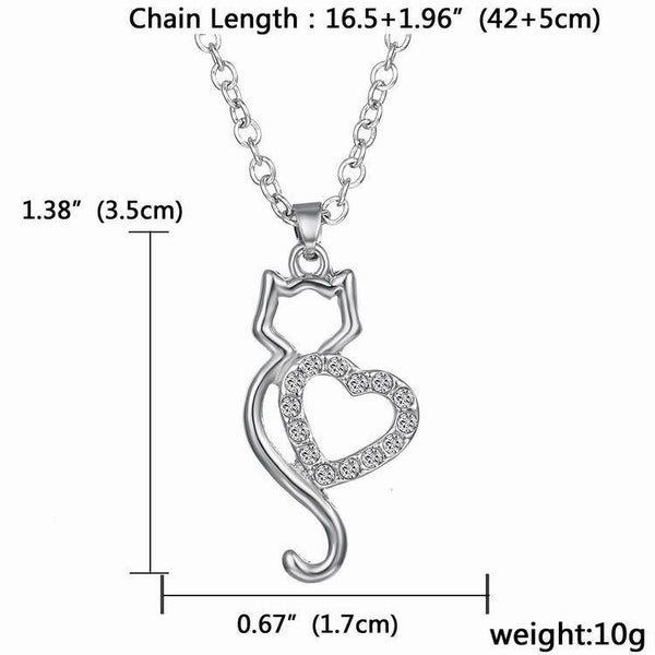 "Lovely ""kitty Heart"" Pendant - PawMerch"