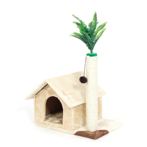 Beautiful Deluxe Scratching Wood Cat House