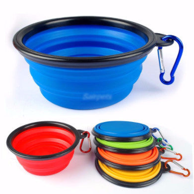 Portable & Collapsable Silicone water Bowl/Feeder - PawMerch