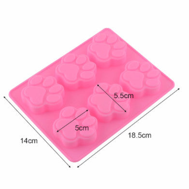 Sweet Multifunction Dog Paw Silicon Ice Cube Mould / Cake Baking Mould - PawMerch