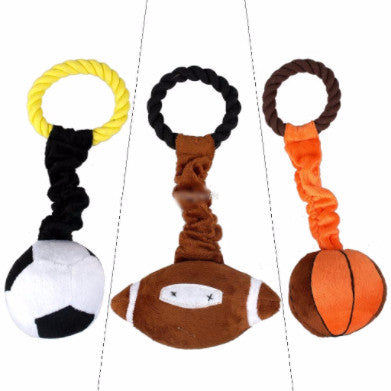 Sports-based plushy and squeaky toy - PawMerch