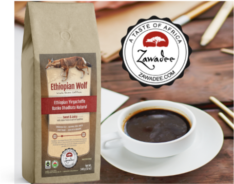 Ethiopian Wolf Natural Yirgacheffe Banko Dhadato Whole Bean Coffee