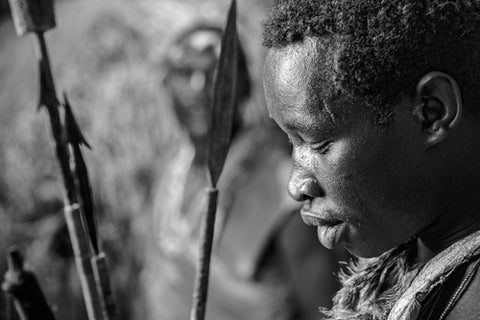 Hadzabe Hunter Deep In Thought | Photographic Art