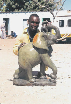 White Rhinoceros | Shona Stone Sculpture | Kingstone Runyanga