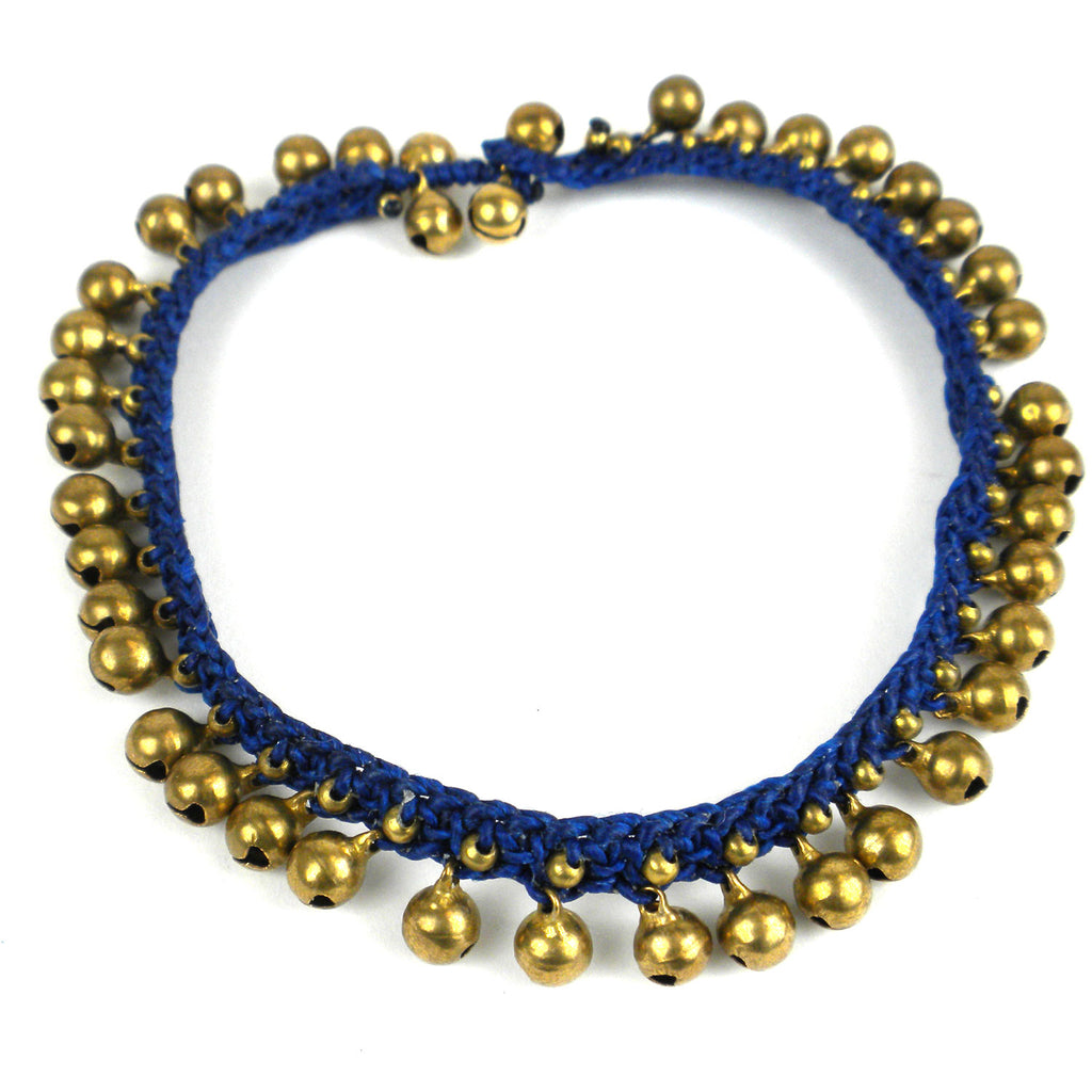 Rasa Bells Anklet Navy Global Groove