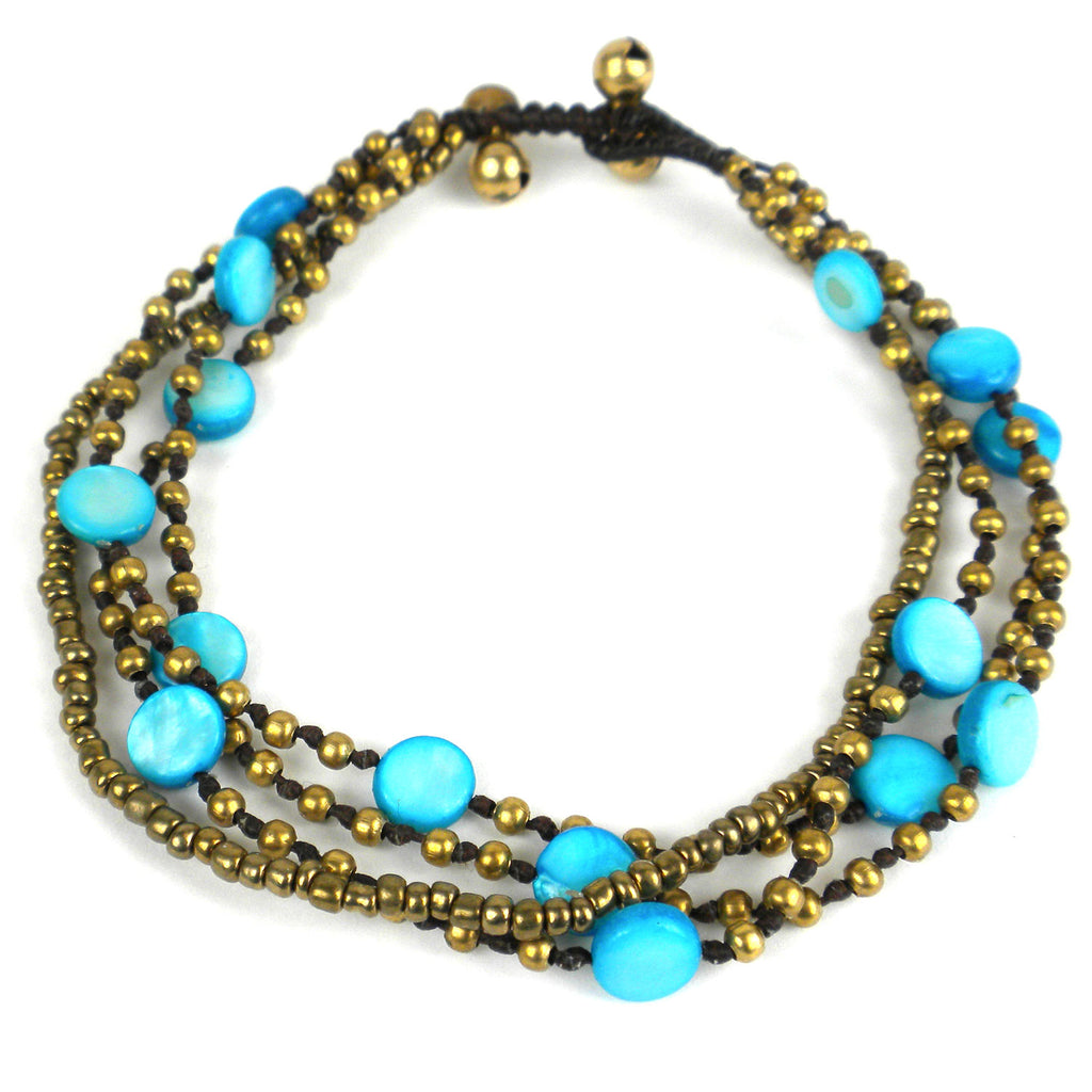 Many Moons Anklet - Turquoise - Global Groove