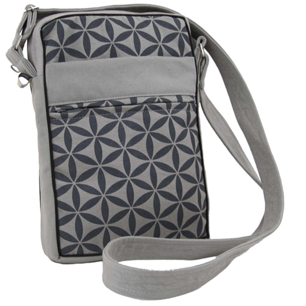 Flower of Life Festival Bag - Grey/Grey - Global Groove