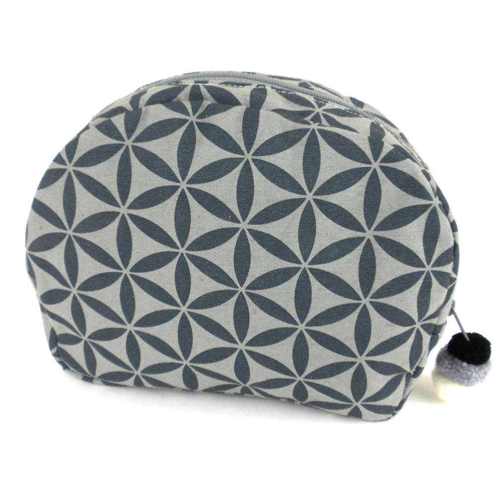Flower of Life Cosmetic Bag Grey/Grey Global Groove
