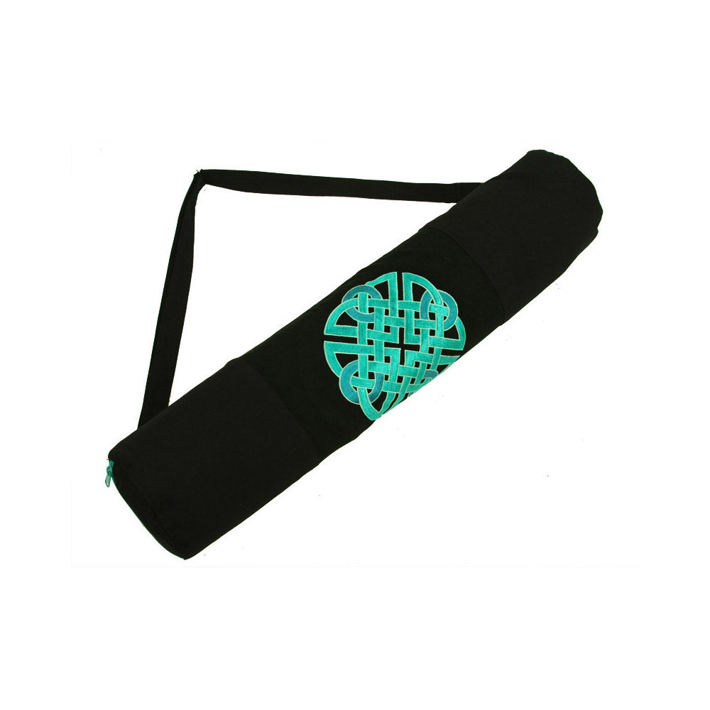 Teal Celtic Knot Yoga Mat Bag Global Groove