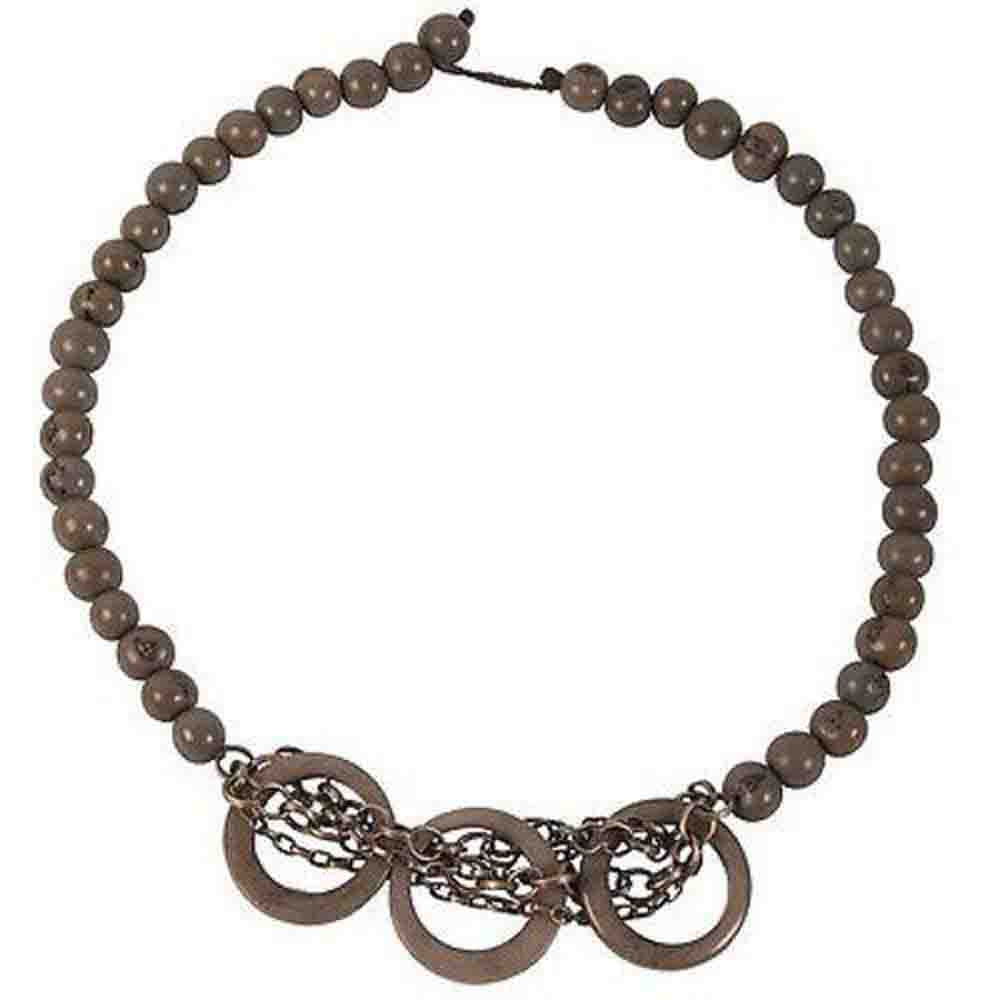 Circle Chain Choker in Gray - Faire Collection