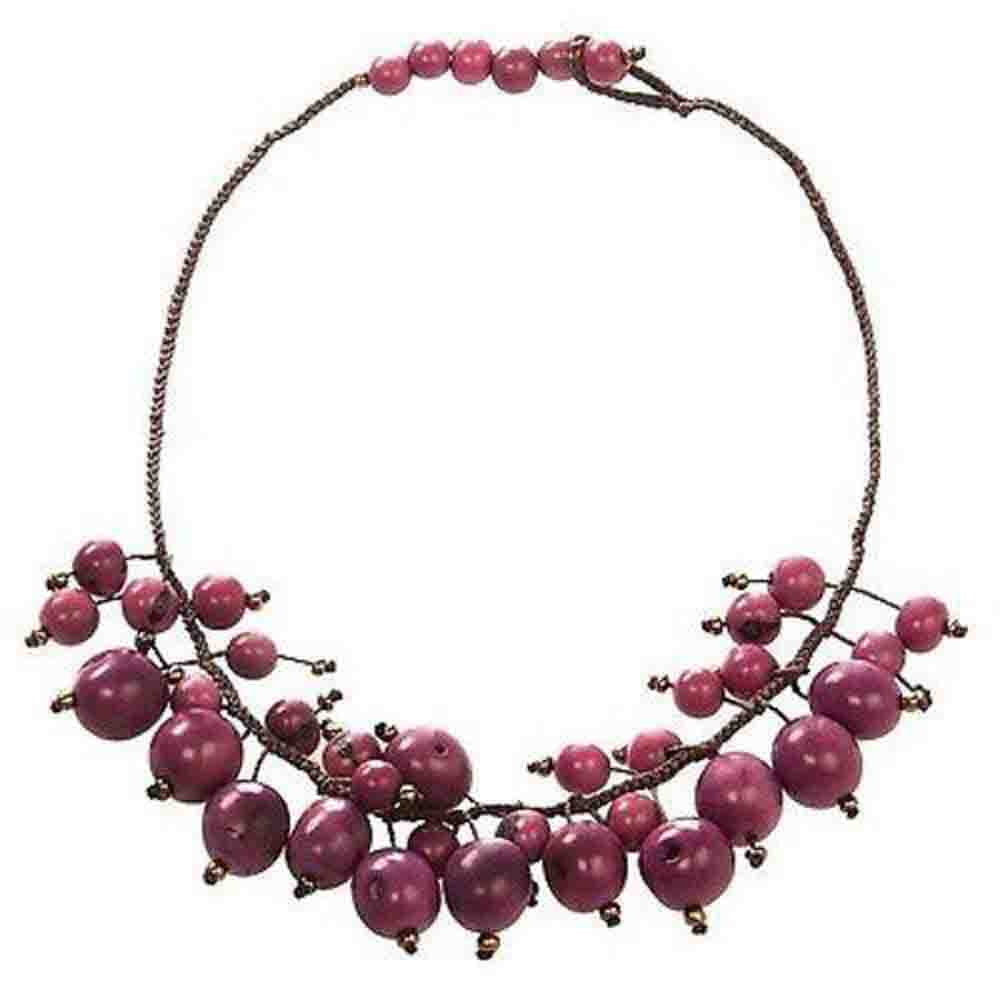 Cloud Forest Choker in Berry - Faire Collection