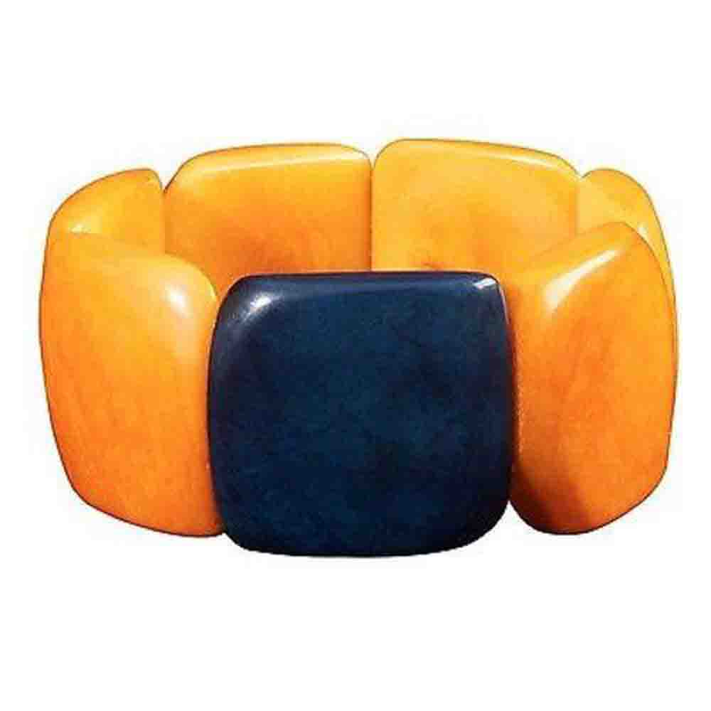 Accented Tagua Bracelet Incan Sun Handmade and Fair Trade