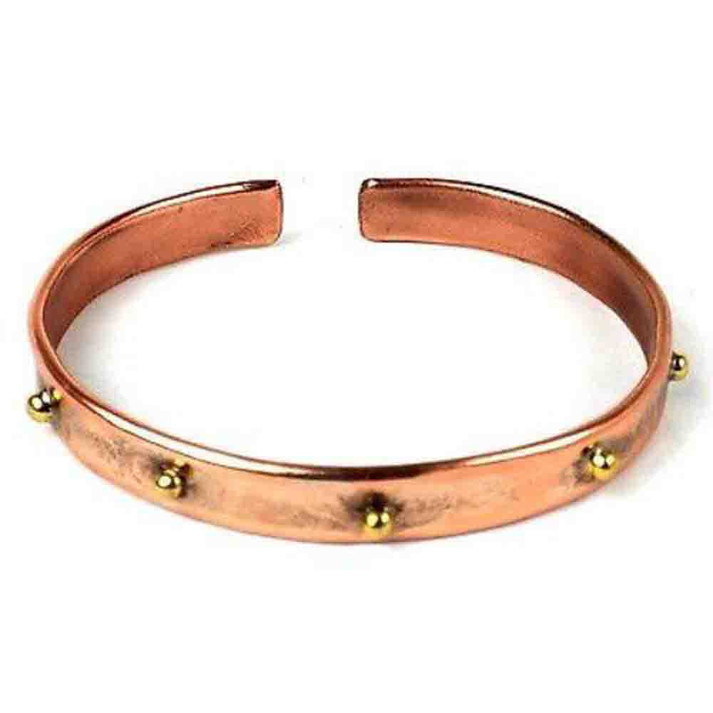 Riveting Copper and Brass Bangle Handmade and Fair Trade