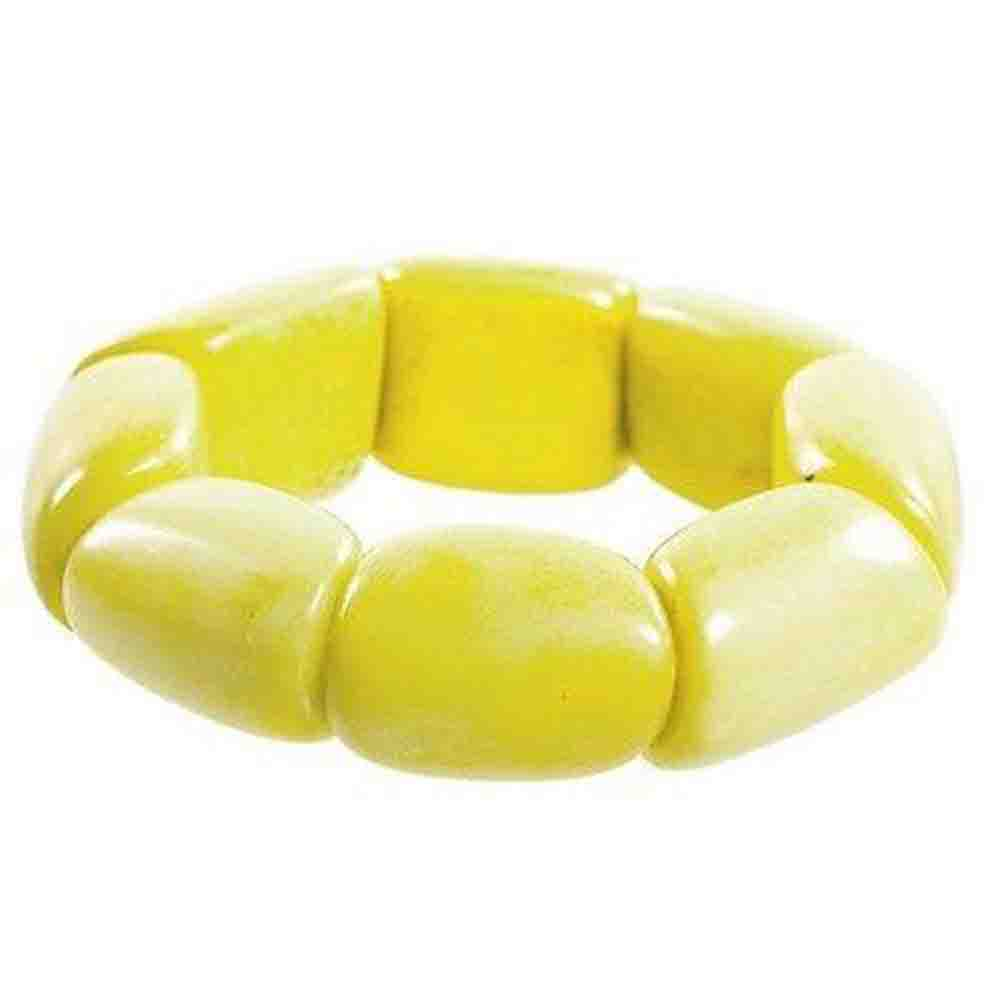 Riverbed Tagua Nut Bracelet in Lemon Faire Collection