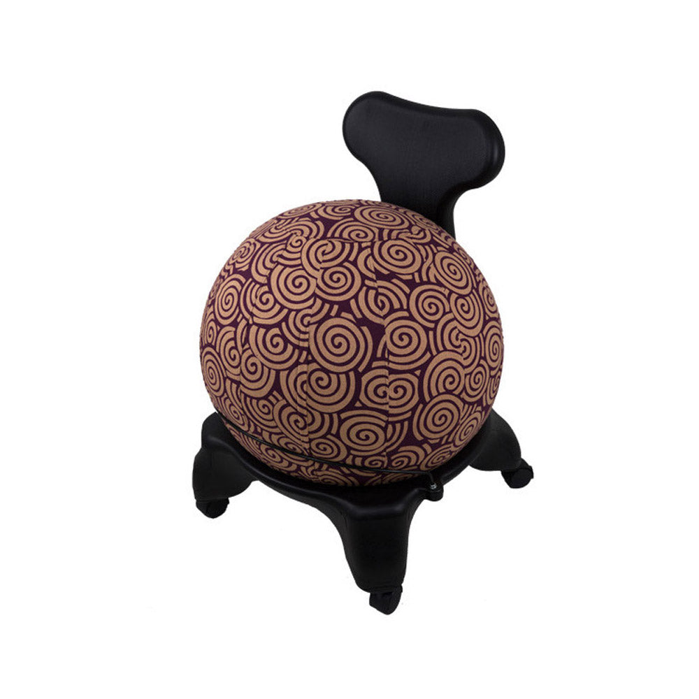 Yoga Ball Cover Size 65cm Design Plum Swirl Global Groove